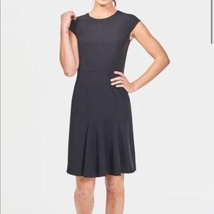 NWT ICO Uniforms Flounce Dress Black size XS